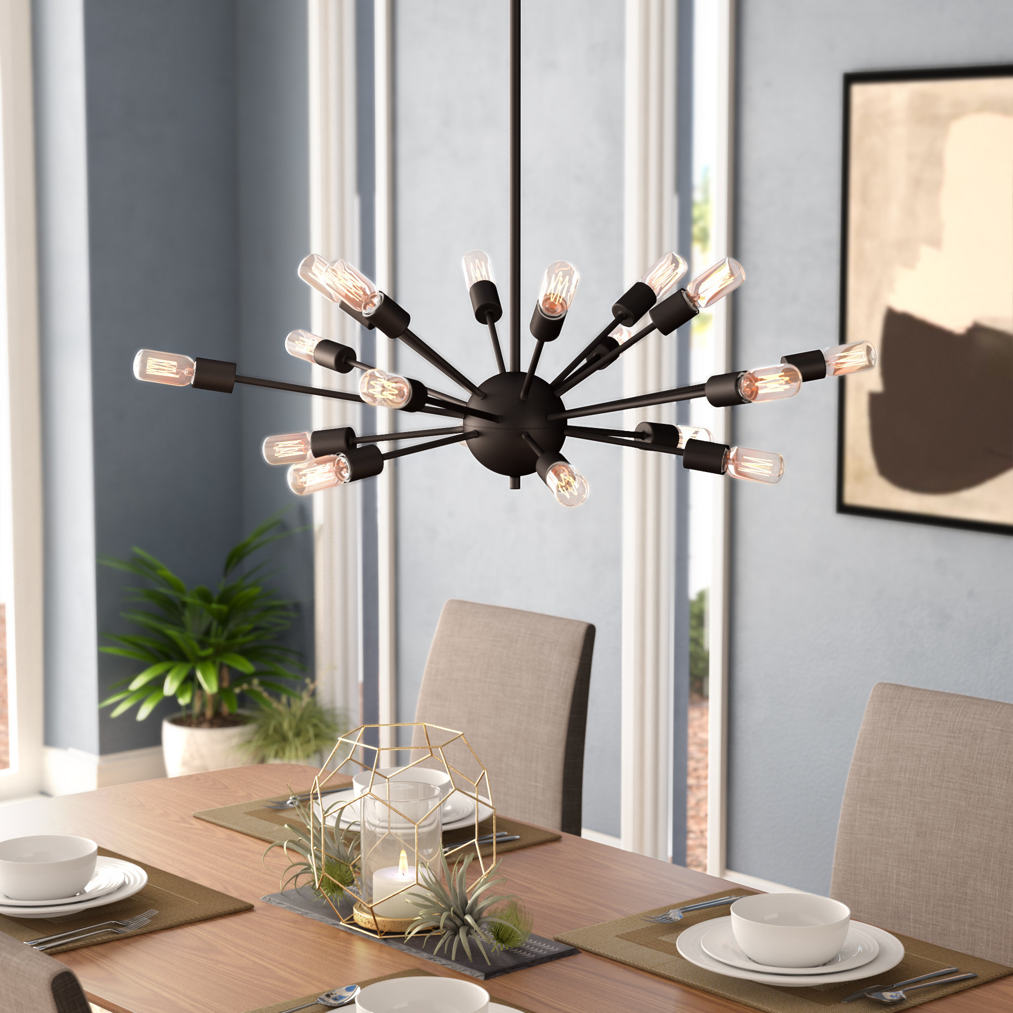 Weiss 18 Light Chandelier With Newest Defreitas 18 Light Sputnik Chandeliers (View 20 of 20)