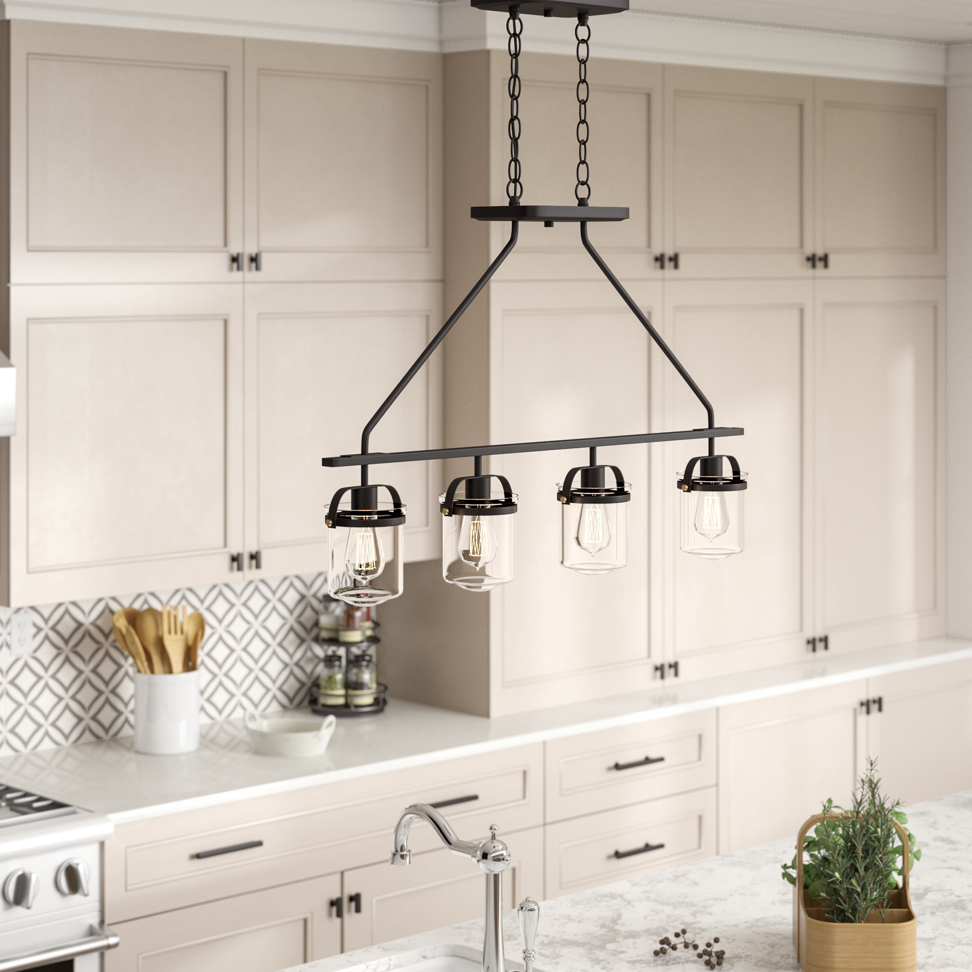 Well Known 4 Light Kitchen Island Pendant – Kitchen Design Ideas With Smithville 4 Light Kitchen Island Pendants (Gallery 10 of 20)