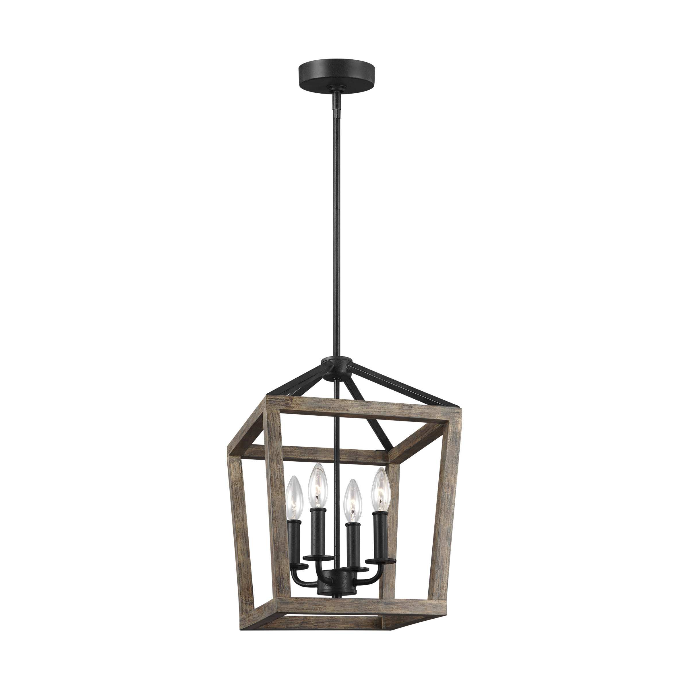 Well Known 4 Light Lantern Square / Rectangle Pendant With Odie 4 Light Lantern Square Pendants (Gallery 4 of 20)