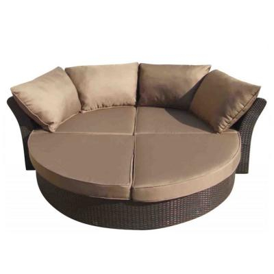 Well Known Aubrie Patio Daybeds With Cushions Intended For Ove Decors Brisbane Gray Wicker Outdoor Day Bed With Gray (View 18 of 20)