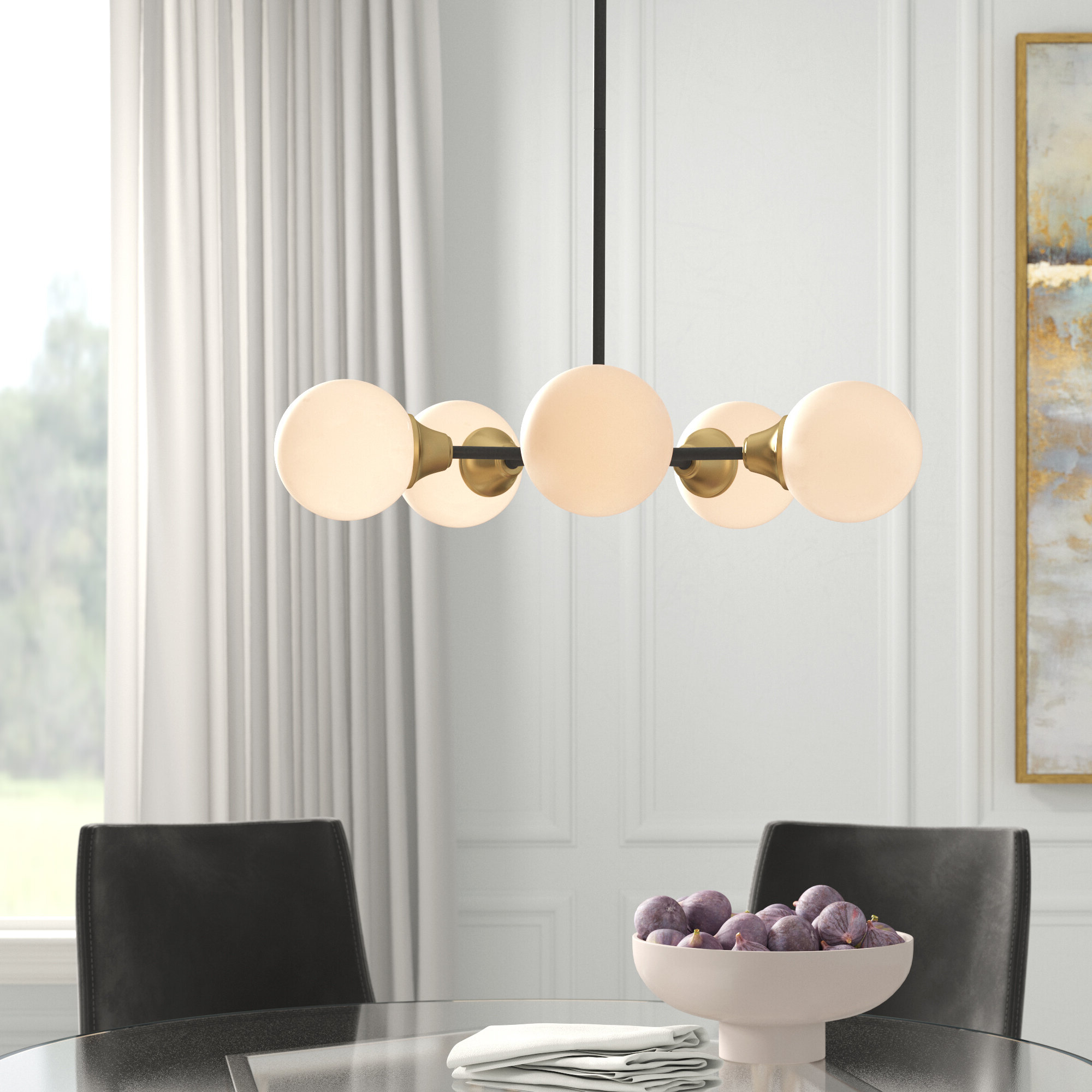 Well Known Bautista 6 Light Kitchen Island Bulb Pendants Throughout Bautista 5 Light Sputnik Chandelier (View 18 of 20)