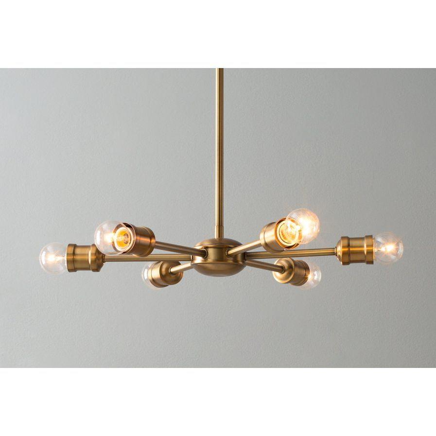 Well Known Bautista 6 Light Sputnik Chandelier Wayfair $ (View 18 of 20)