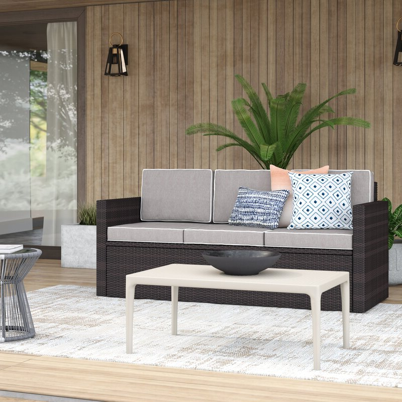 Well Known Belton Loveseats With Cushions Regarding Belton Patio Sofa With Cushions (View 3 of 20)