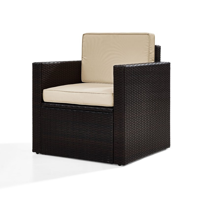 Well Known Belton Outdoor Wicker Deep Seating Patio Chair With Cushion For Belton Patio Sofas With Cushions (View 14 of 20)