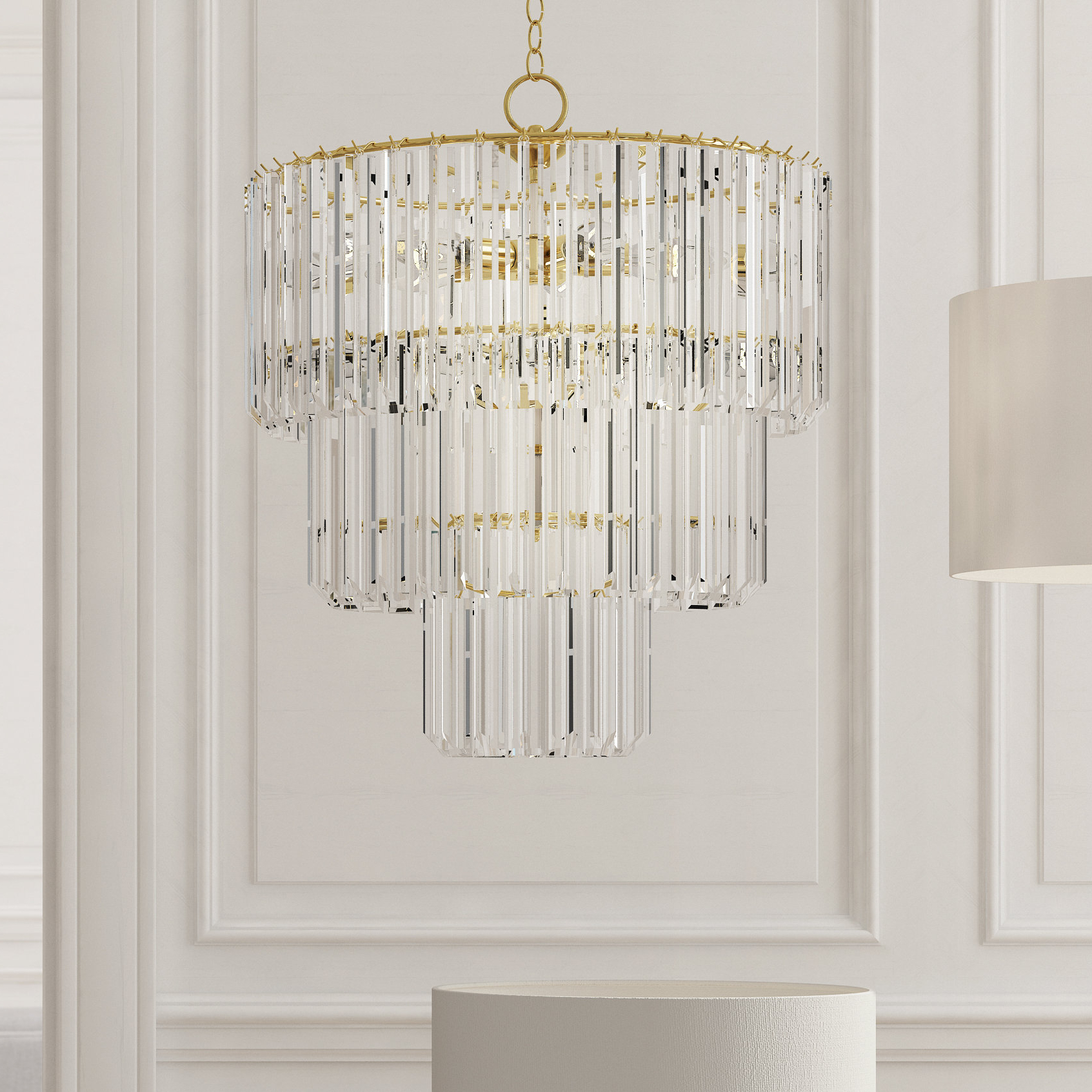 Well Known Benedetto 5 Light Crystal Chandeliers With Regard To Grisella 9 Light Crystal Chandelier (View 20 of 20)
