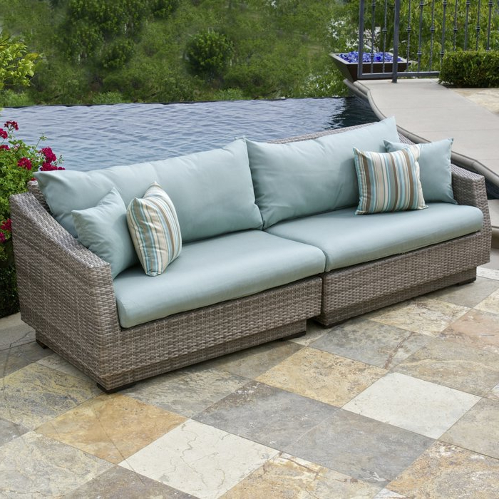 Well Known Castelli Patio Sofas With Sunbrella Cushions Inside Castelli Patio Sofa With Sunbrella Cushions (Gallery 4 of 20)