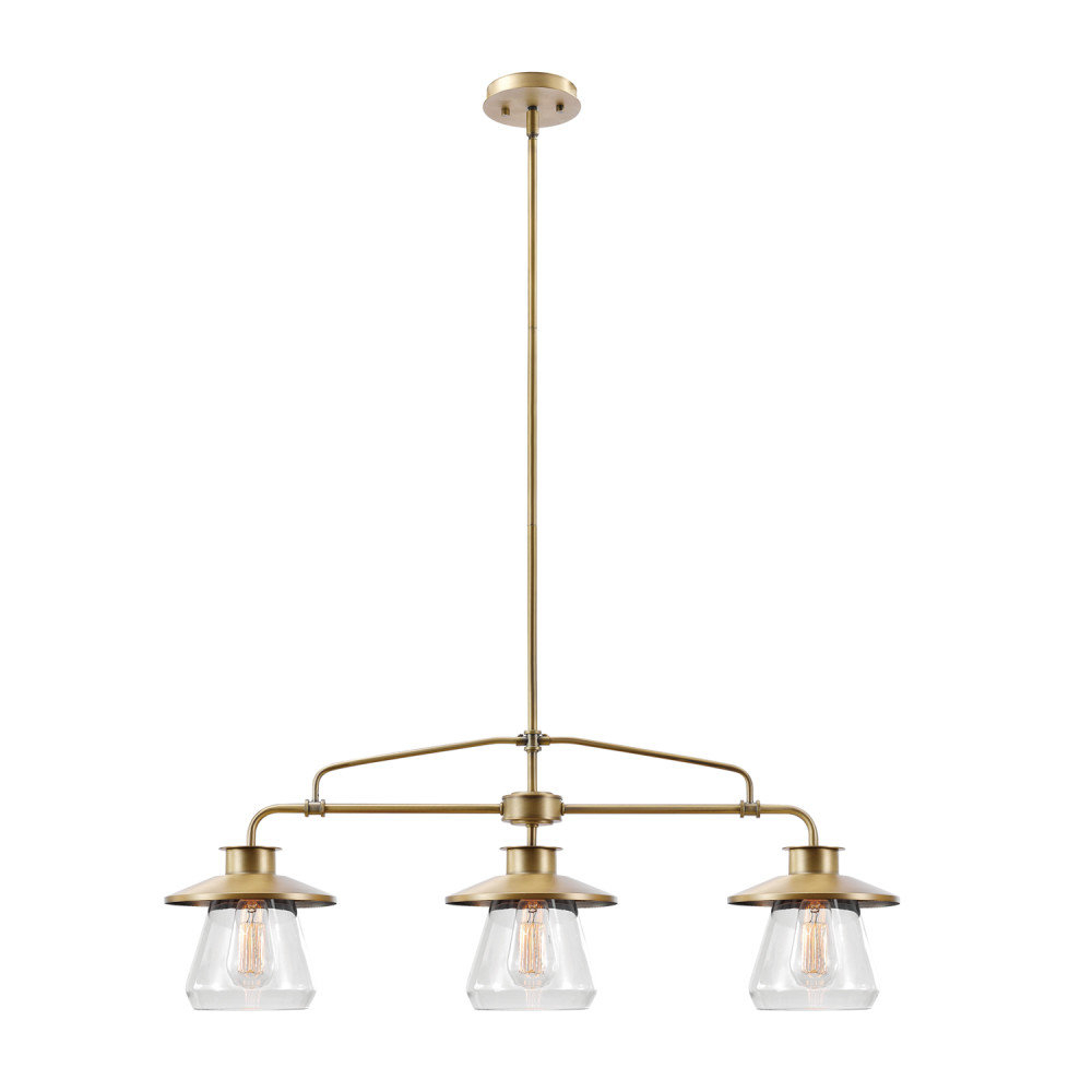 Well Known Cinchring 4 Light Kitchen Island Linear Pendants In Cinchring 3 Light Kitchen Island Pendant (View 8 of 20)