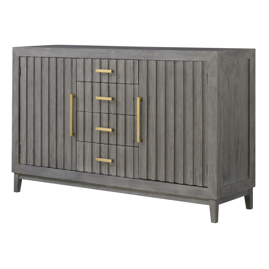 Well Known Cleveland Server With Carrera Buffet Server Slate Grey (View 19 of 20)