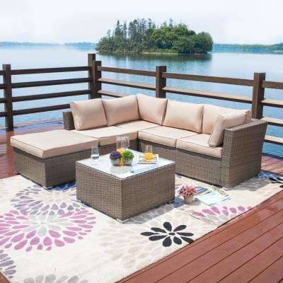 Well Known Cushions Included – Wicker – Outdoor Sectionals – Outdoor Intended For Nolen Patio Sectionals With Cushions (View 16 of 20)