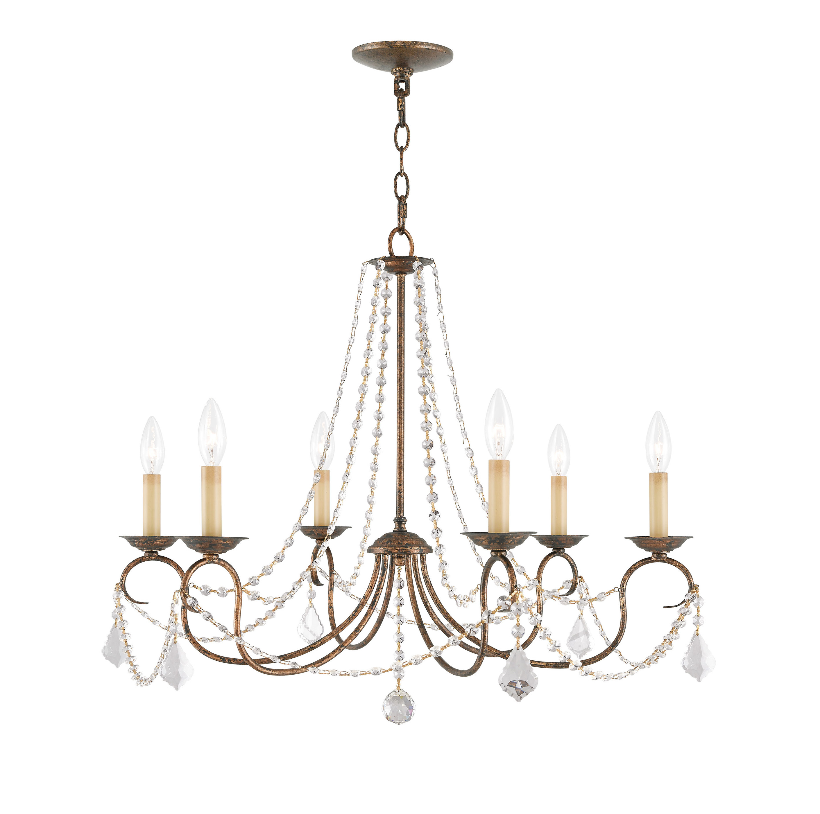 Well Known Devana 6 Light Candle Style Chandelier With Diaz 6 Light Candle Style Chandeliers (View 19 of 20)