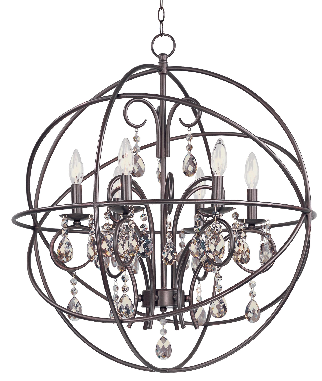 Well Known Eastbourne 6 Light Unique / Statement Chandeliers With Regard To Alden 6 Light Globe Chandelier (Gallery 14 of 20)