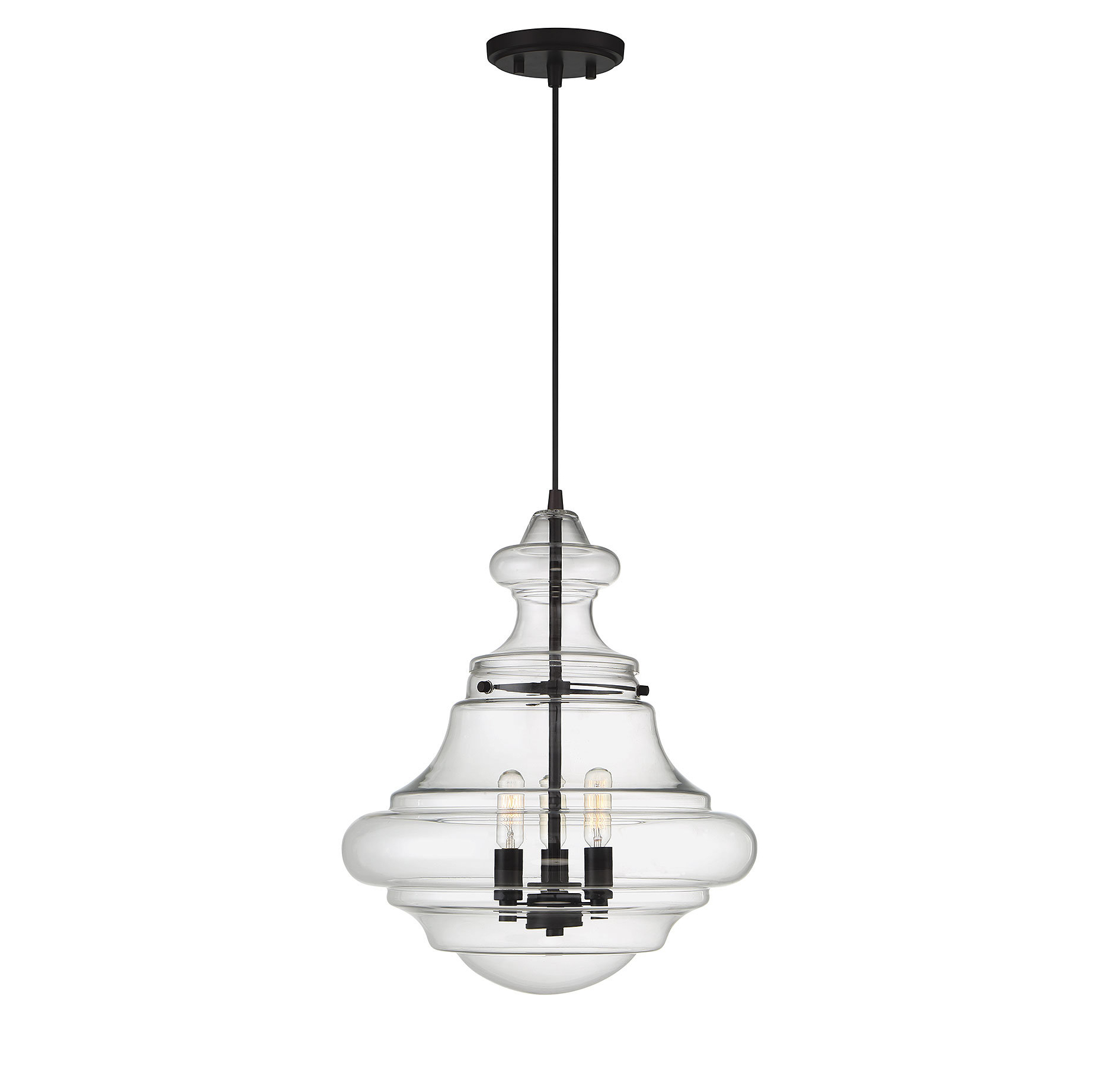 Well Known Edford 3 Light Single Schoolhouse Pendant Pertaining To Moyer 1 Light Single Cylinder Pendants (View 17 of 20)