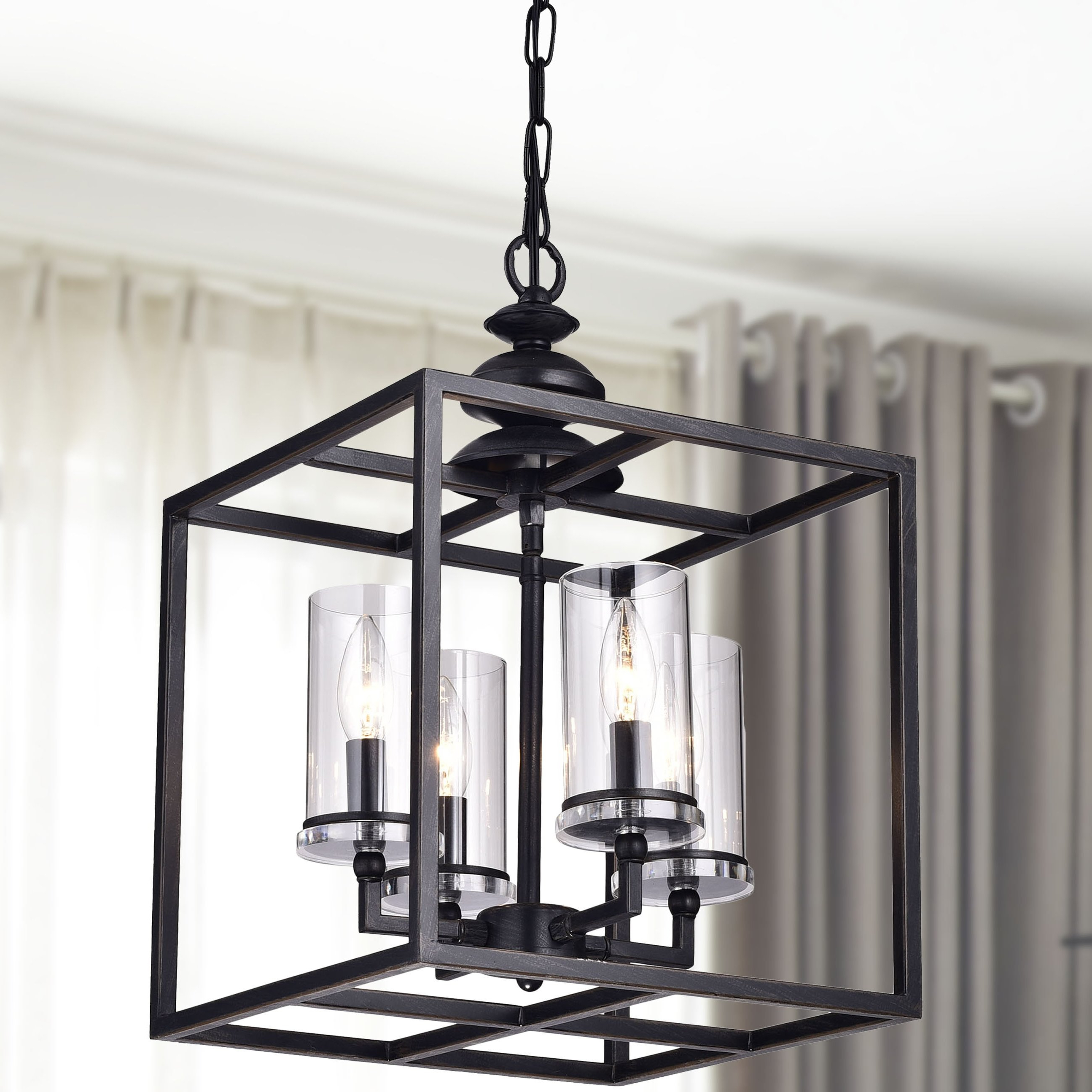 Well Known Ellenton 4 Light Rectangle Chandeliers Intended For Didmarton 4 Light Square/rectangle Chandelier (View 19 of 20)