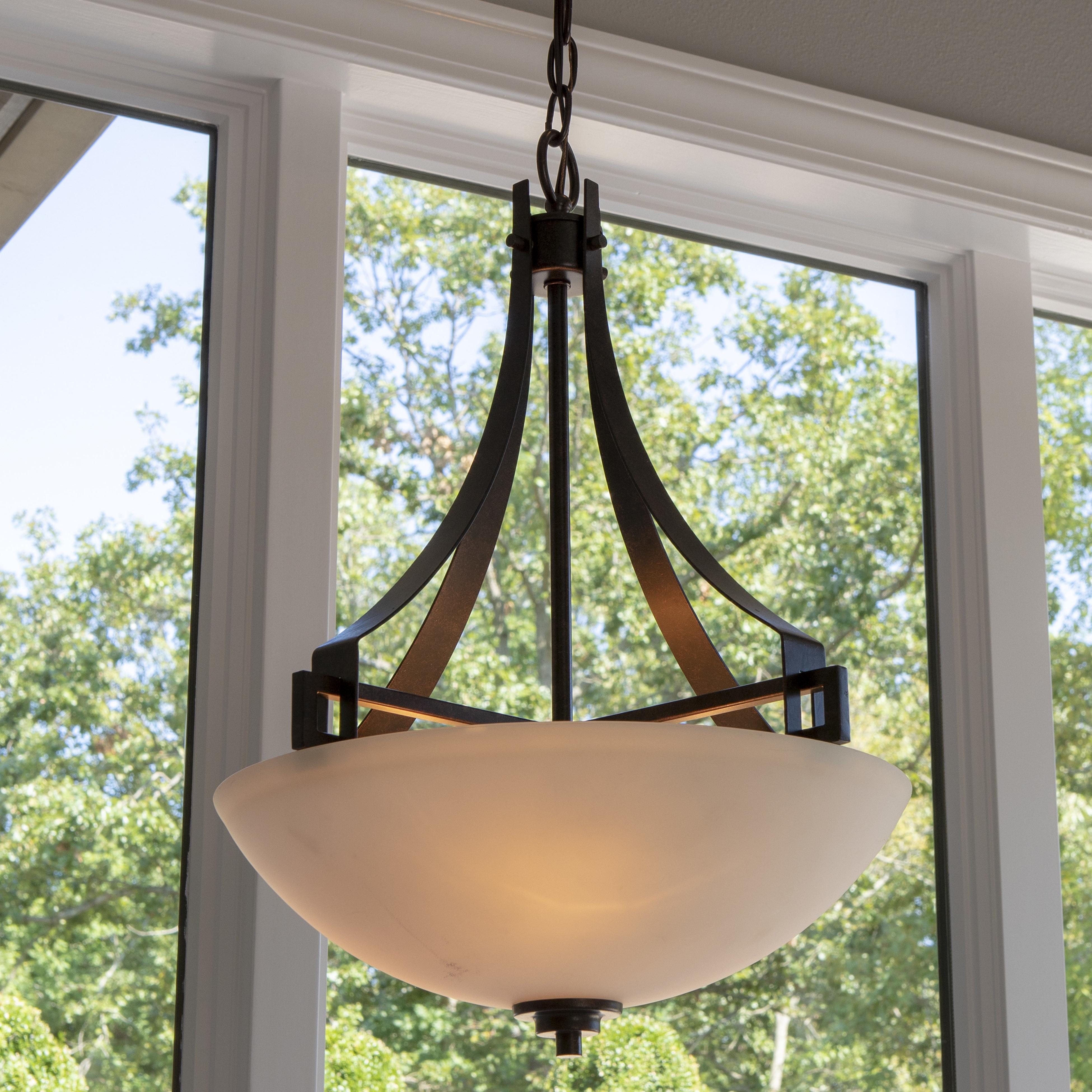 Well Known Felica 1 Light Single Bowl Pendant With Newent 3 Light Single Bowl Pendants (View 9 of 20)
