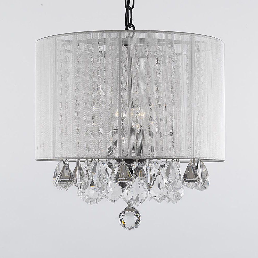 Well Known Gallery 3 Light Crystal Chandelier With Shade (View 18 of 20)