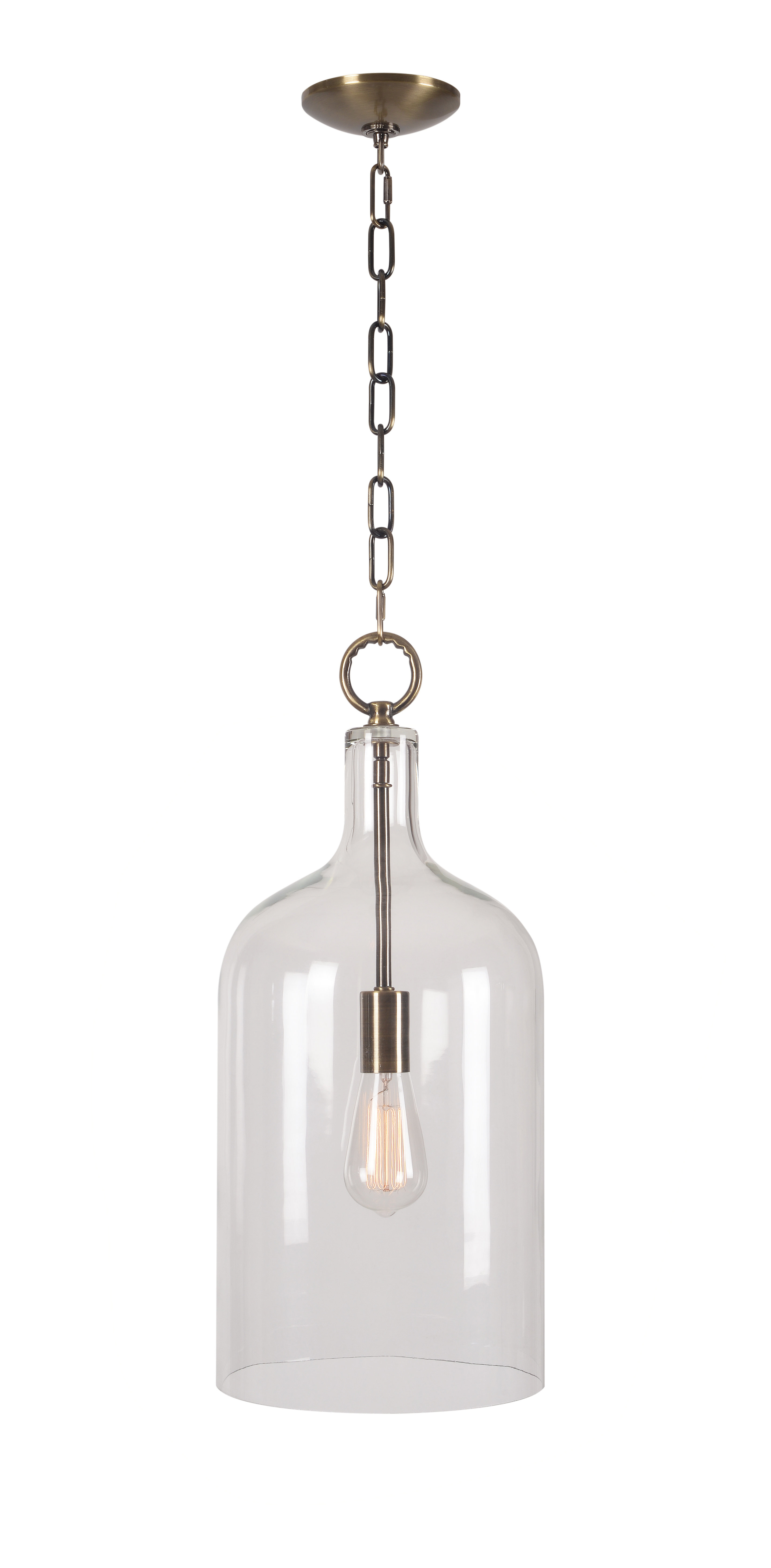 Well Known Giacinta 1 Light Single Bell Pendants Pertaining To Clematite 1 Light Single Jar Pendant (View 18 of 20)