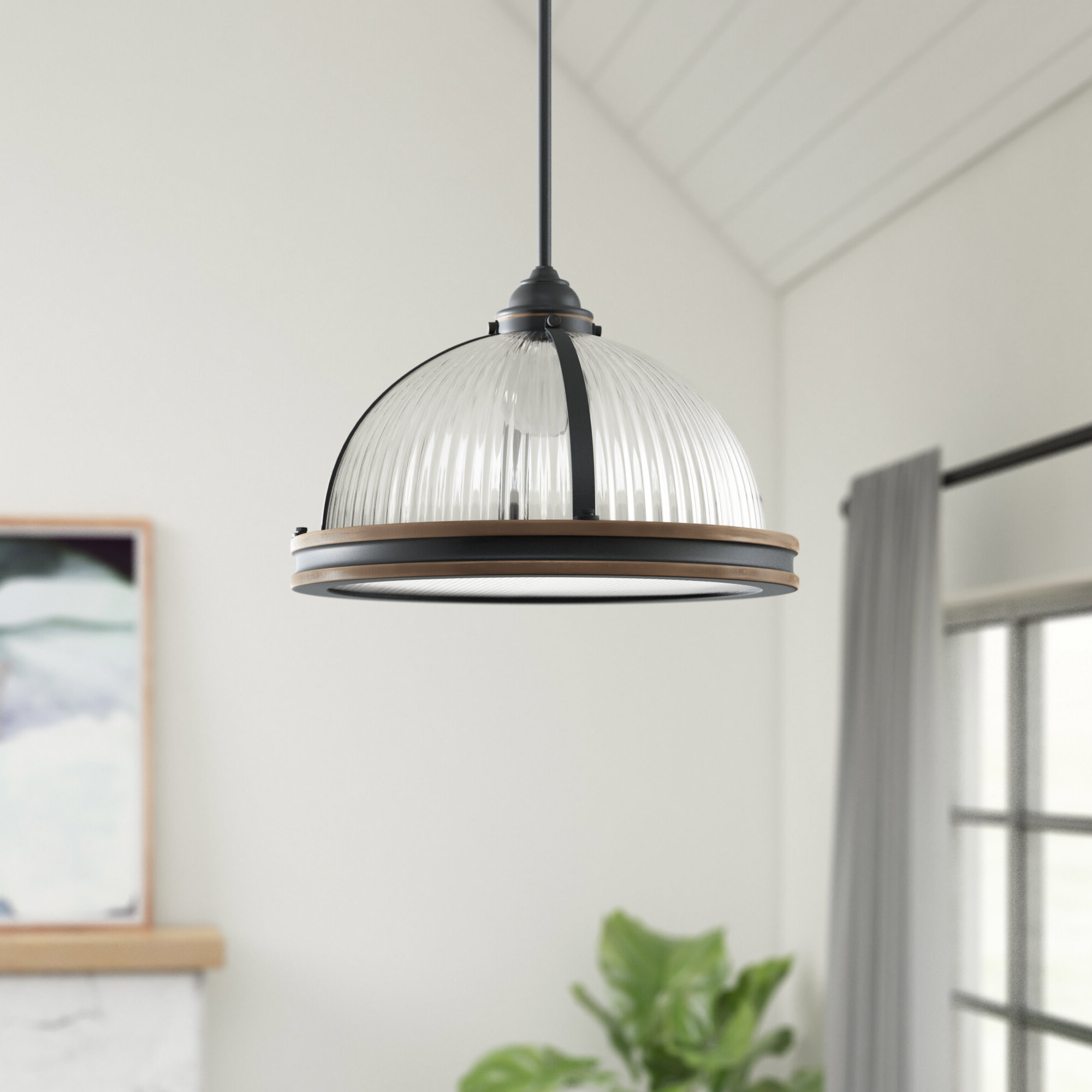Well Known Granville 3 Light Single Dome Pendant Pertaining To Proctor 1 Light Bowl Pendants (View 10 of 20)