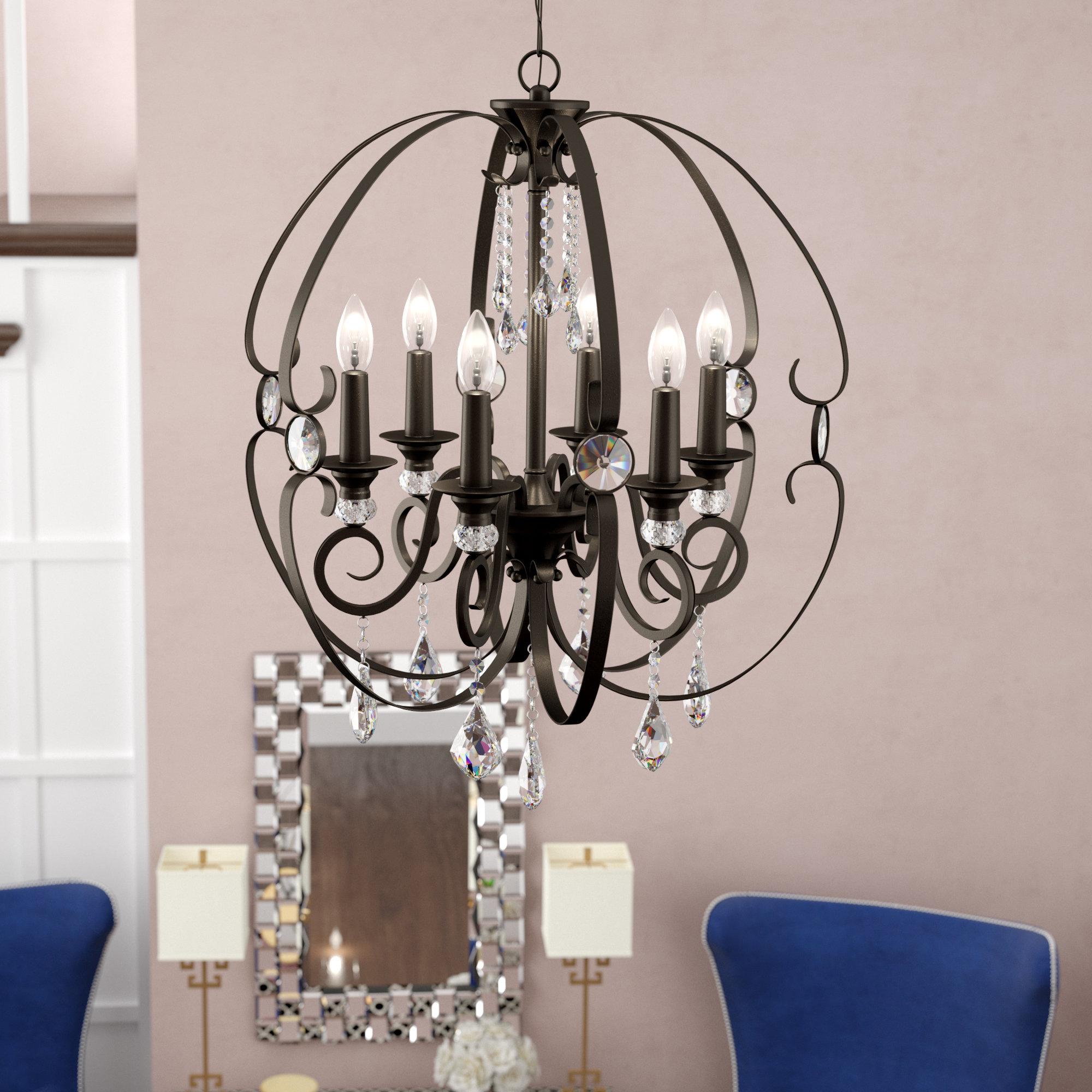 Well Known Hardouin 6 Light Globe Chandelier With Alden 6 Light Globe Chandeliers (Gallery 5 of 20)