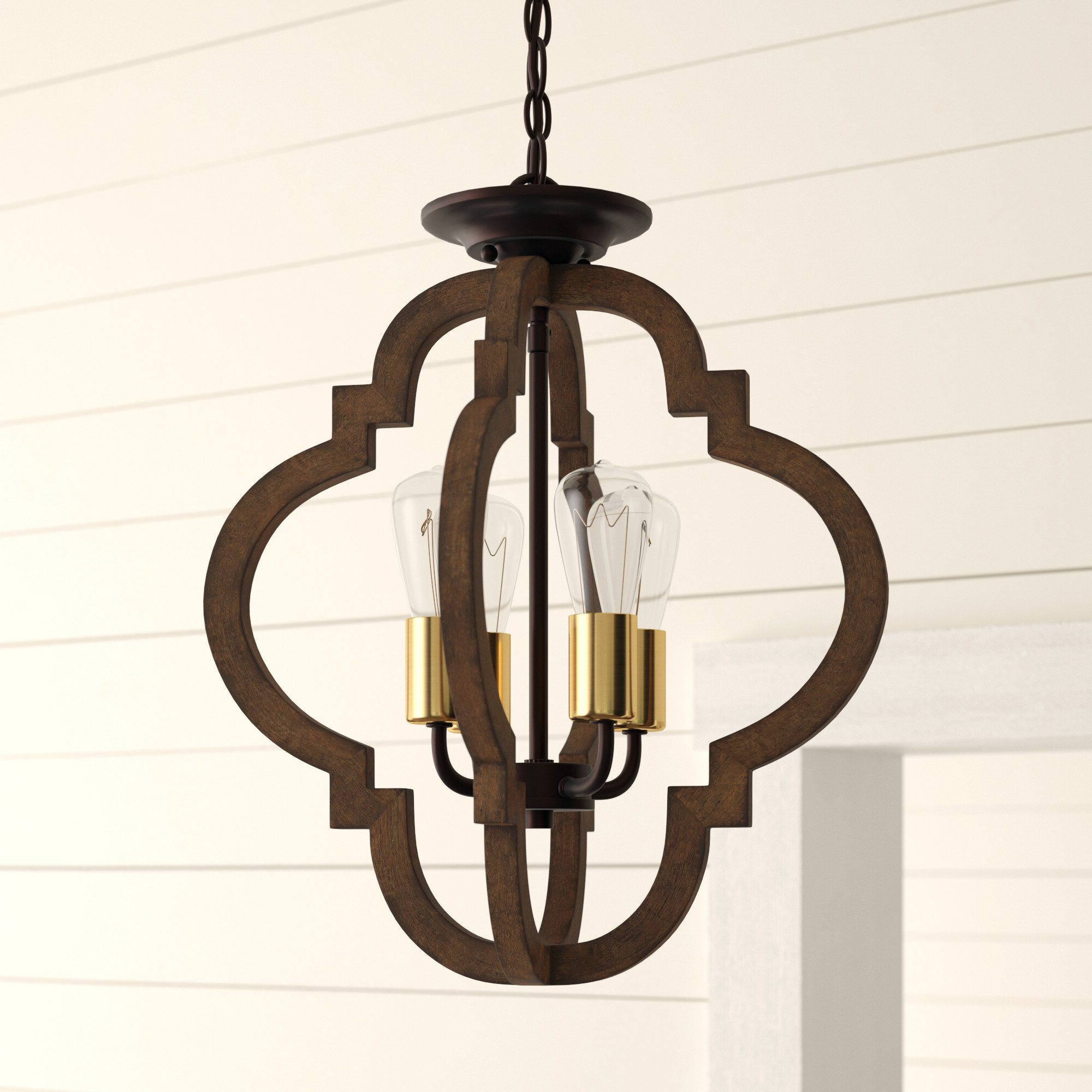 Well Known Hendry 4 Light Globe Chandeliers Inside Kaycee 4 Light Geometric Chandelier (View 18 of 20)