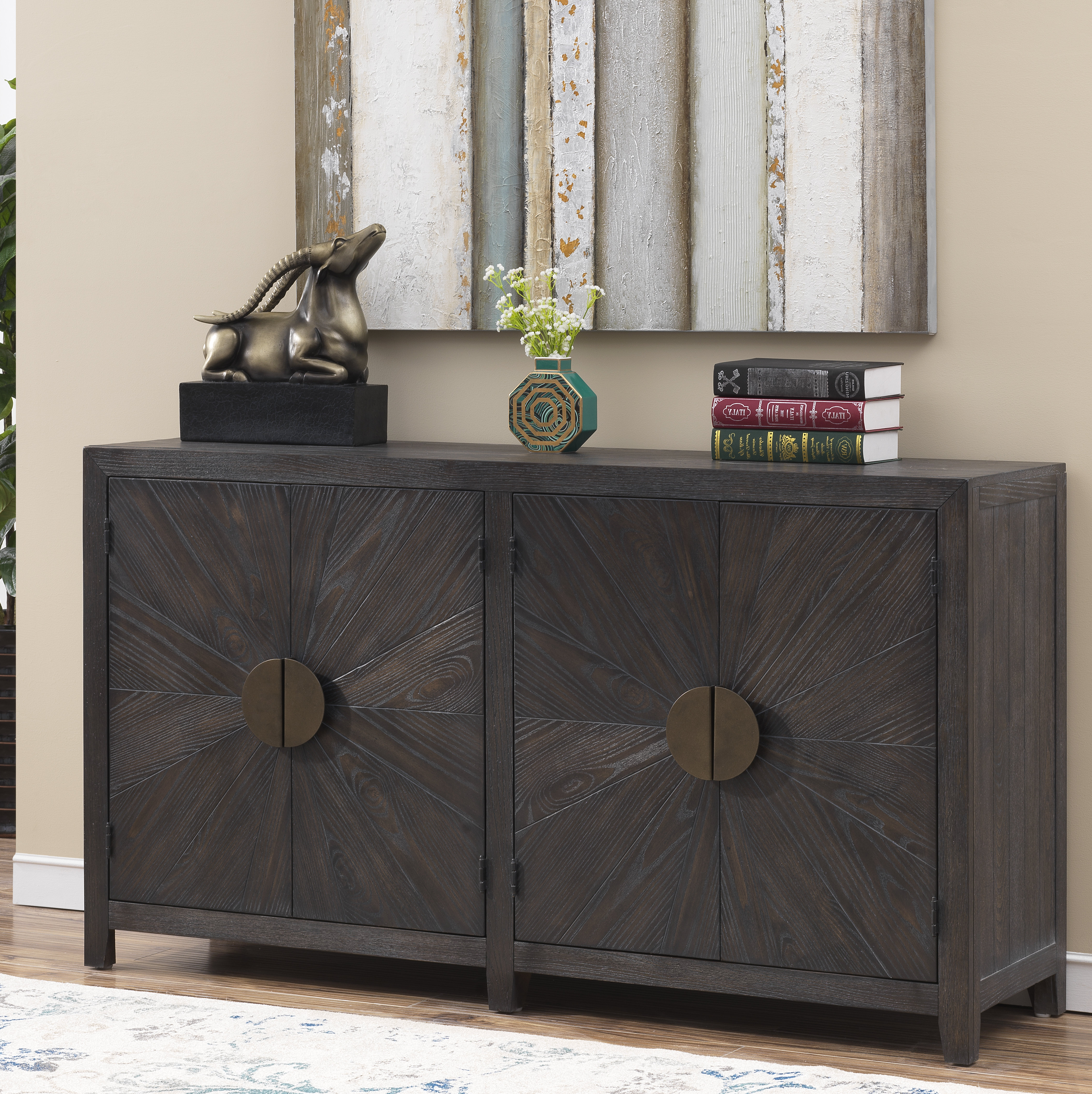 Well Known Hoggan 4 Door Media Credenza Intended For Errol Media Credenzas (View 18 of 20)
