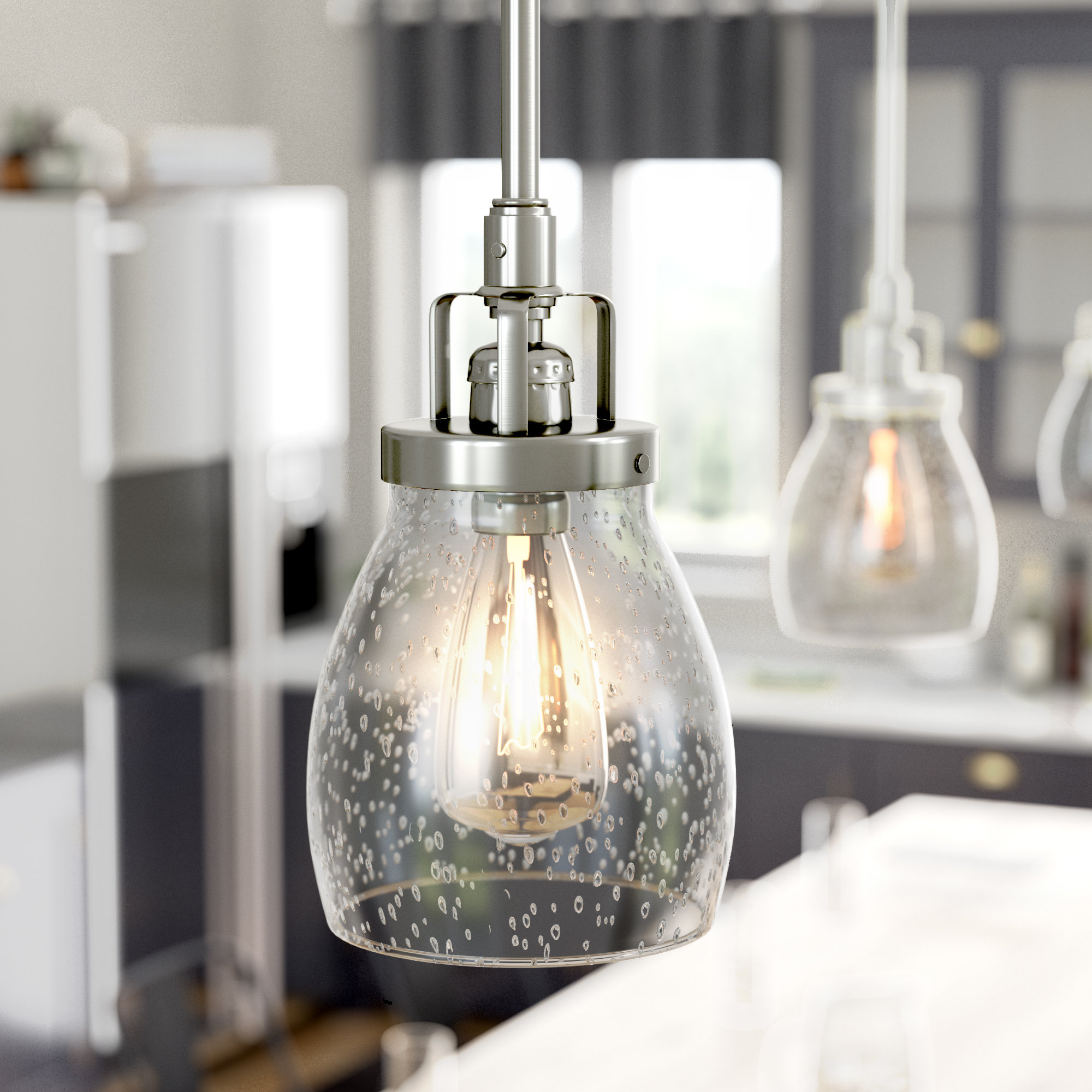 Featured Photo of Houon 1 Light Cone Bell Pendants
