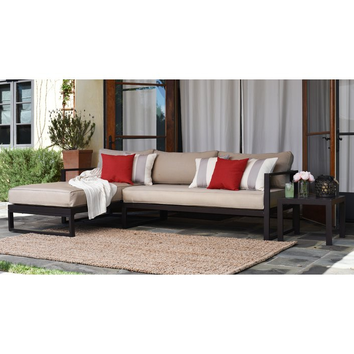 Well Known Jamarion 4 Piece Sectionals With Sunbrella Cushions For Catalina Outdoor Right Arm Sectional Piece With Cushions (View 19 of 20)