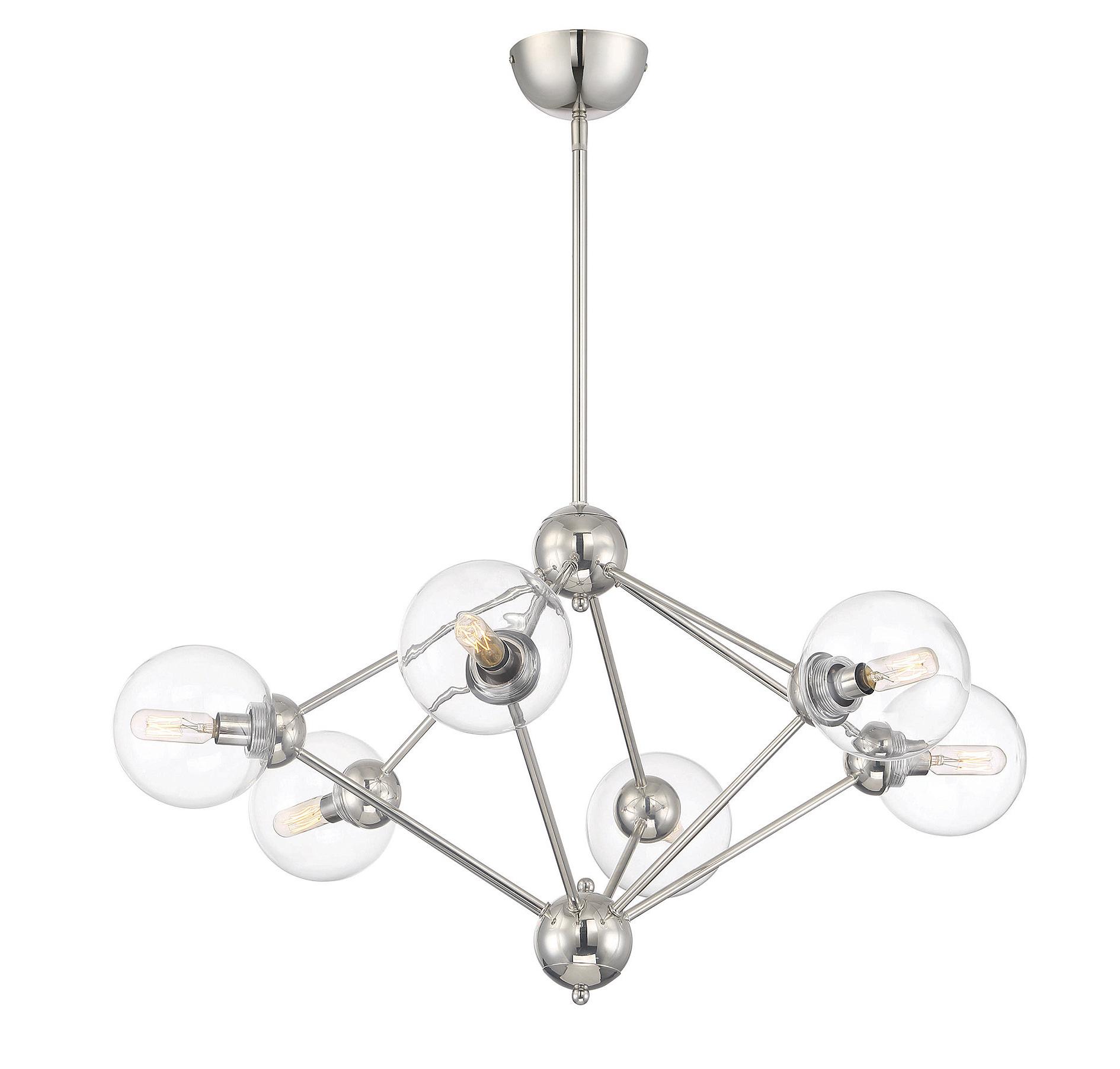 Well Known Johanne 6 Light Sputnik Chandeliers With Regard To Valetta 6 Light Geometric Chandelier (View 7 of 20)