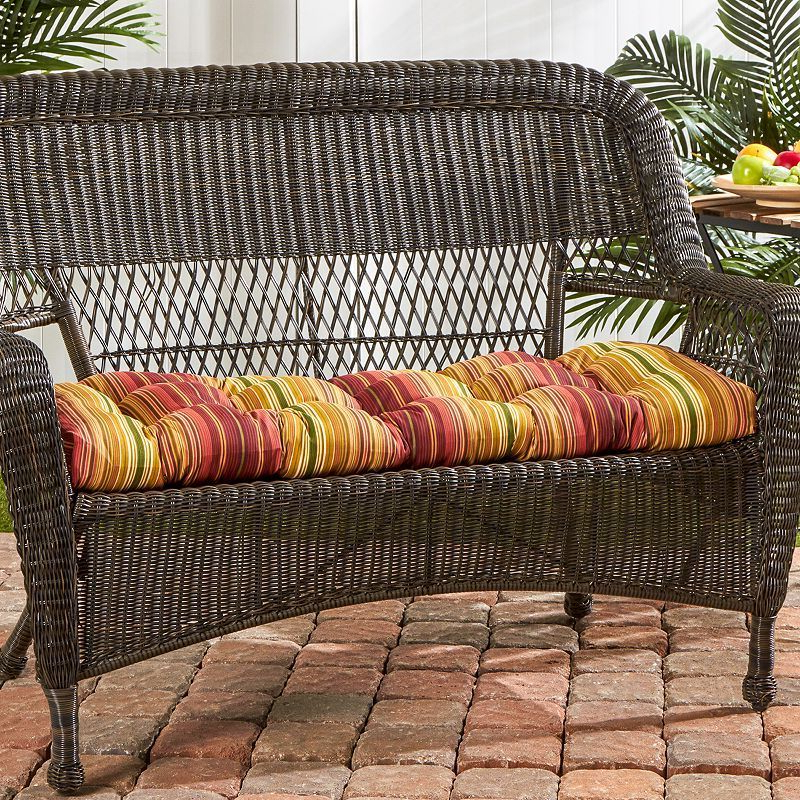 Well Known Karan Wicker Patio Loveseats Pertaining To Greendale Home Fashions Outdoor Porch Swing Or Bench Cushion (View 20 of 20)