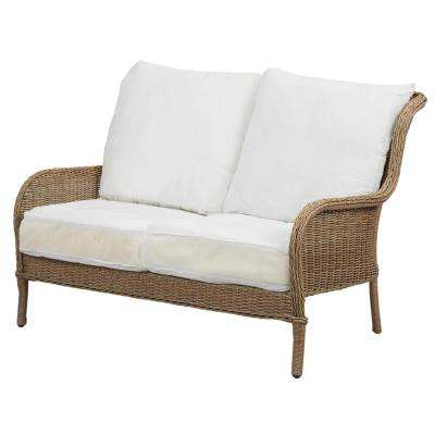 Well Known Karan Wicker Patio Loveseats Pertaining To Lemon Grove Custom Wicker Outdoor Loveseat With Cushions Included, Choose Your Own Color (View 13 of 20)
