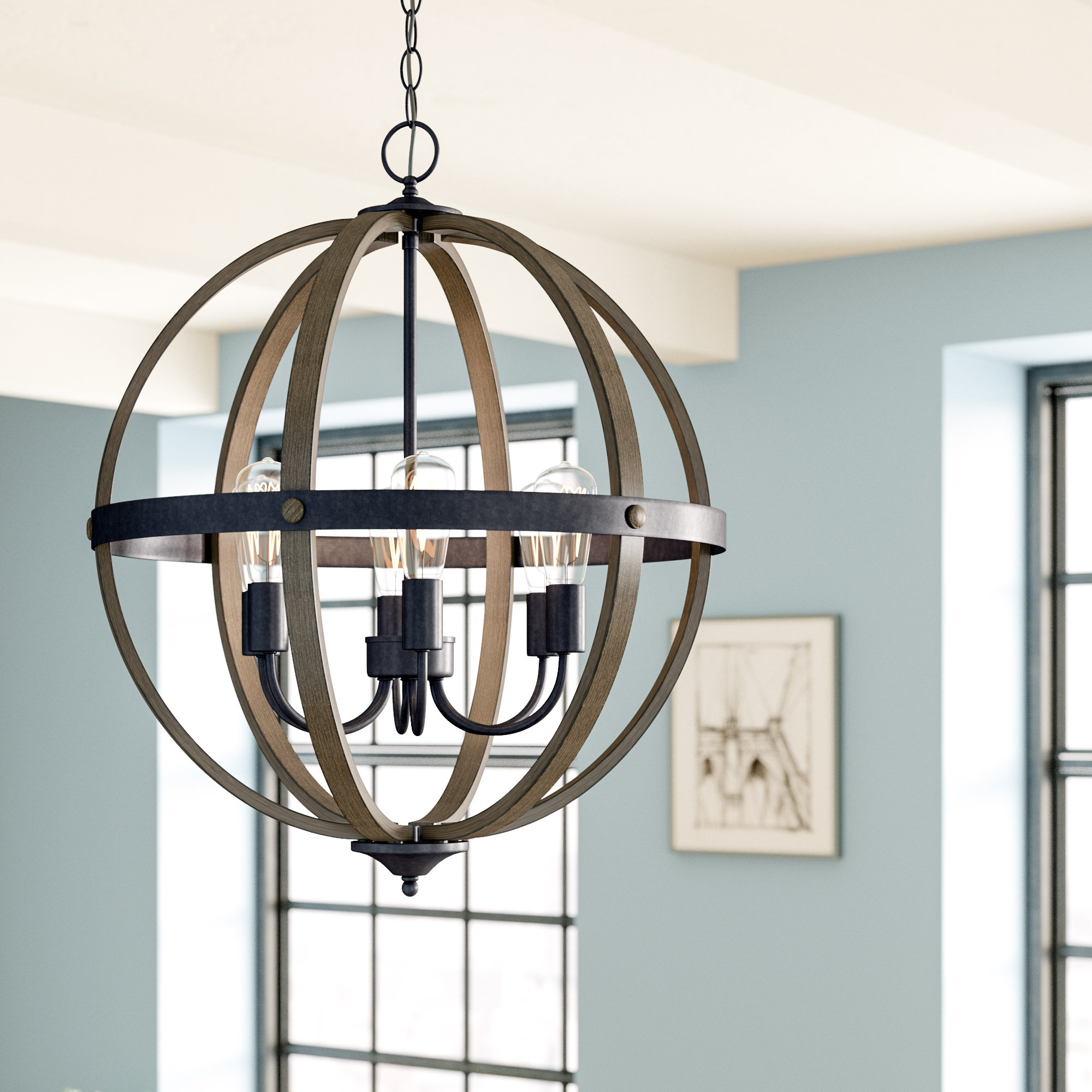Well Known Kathrina 6 Light Globe Chandelier With Regard To Donna 6 Light Globe Chandeliers (View 3 of 20)