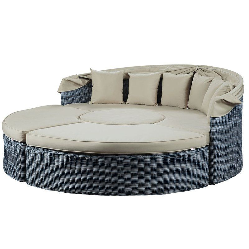 Well Known Keiran Patio Daybeds With Cushions With Regard To Keiran Daybed With Cushions In (View 9 of 20)