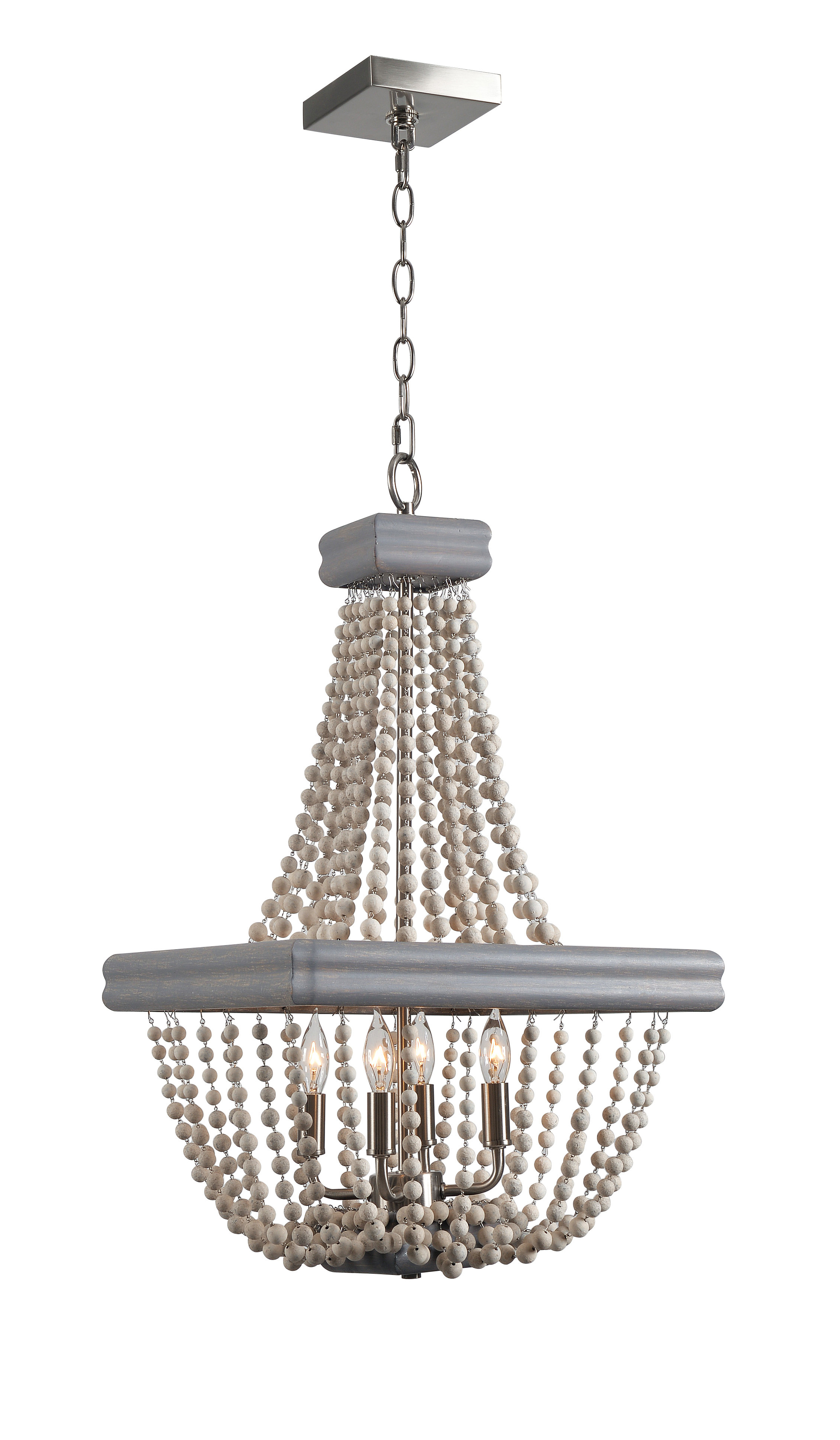 Well Known Ladonna 5 Light Novelty Chandeliers Inside 4 Light Empire Chandelier (View 9 of 20)