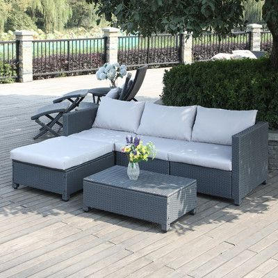 Well Known Larsen 5 Piece Sectional Seating Group With Cushions Pertaining To Larsen Patio Sectionals With Cushions (Gallery 20 of 20)