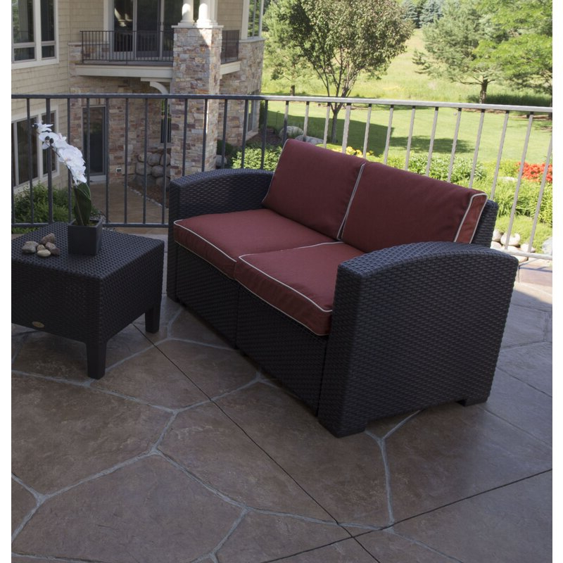 Well Known Loggins Loveseats With Cushions Pertaining To Loggins Loveseat With Cushions (View 2 of 20)