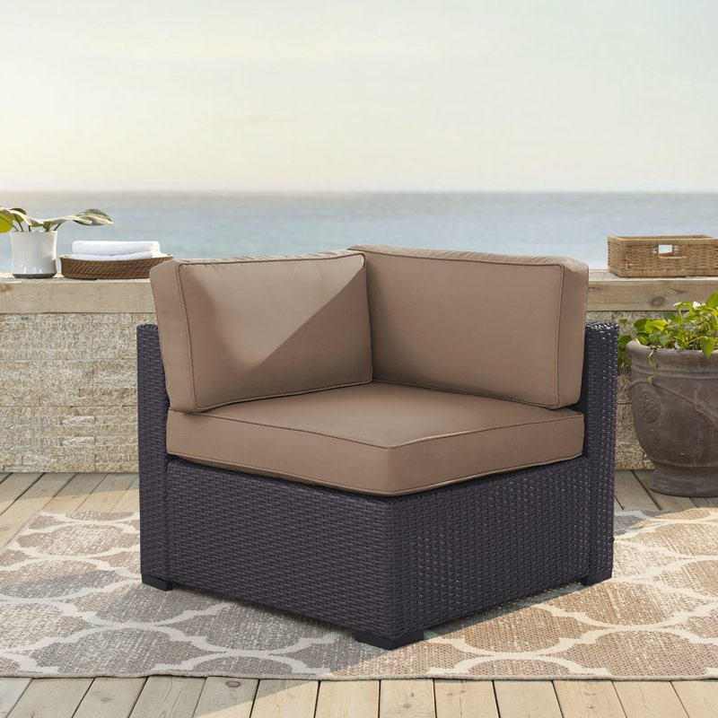 Well Known Mcmanis Patio Sofas With Cushion Pertaining To Seaton Corner Patio Chair With Cushions (View 19 of 20)