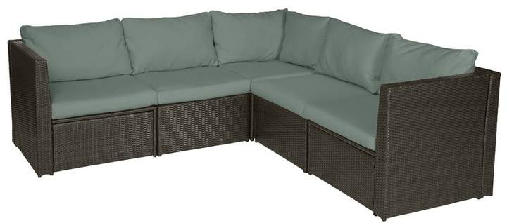 Well Known Mercury Row Lachesis Patio Sectional With Cushions Cushion For Seaham Patio Sectionals With Cushions (View 20 of 20)