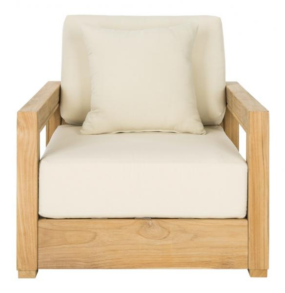 Well Known Montford Teak Patio Sofas With Cushions Inside Cpt1000A – Safavieh (View 20 of 20)