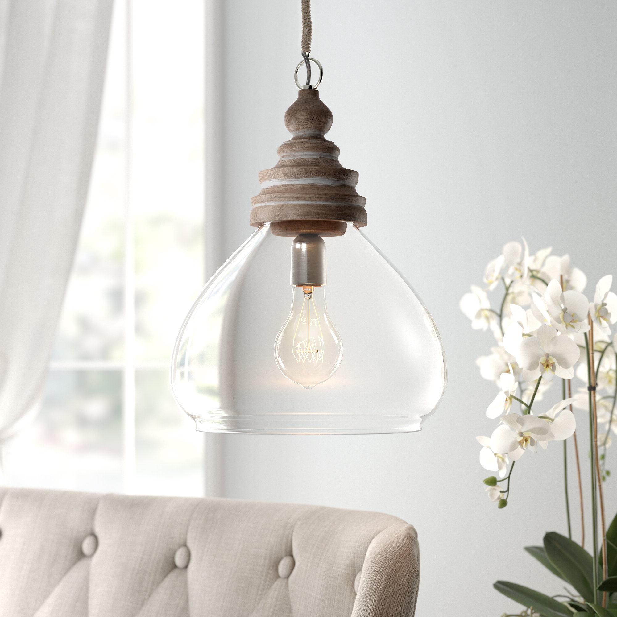 Well Known Moyer 1 Light Single Cylinder Pendants Within Brisa 1 Light Single Dome Pendant (View 18 of 20)