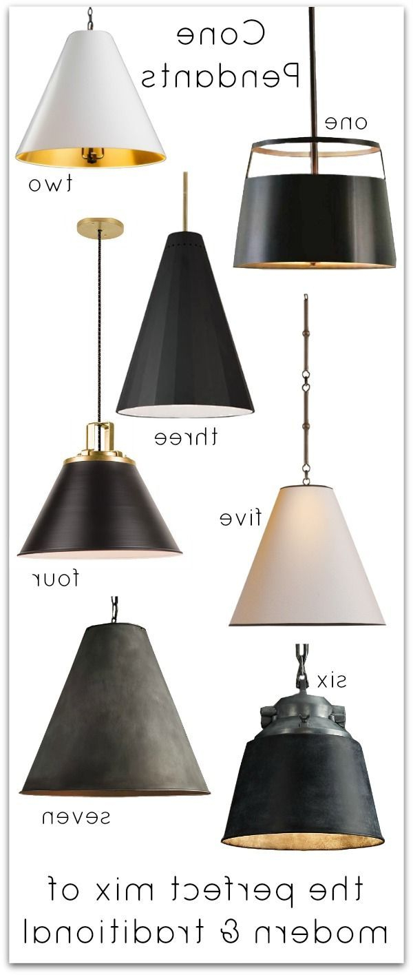 Well Known Nadeau 1 Light Single Cone Pendants Throughout Cone Pendants: New Lighting For Our Kitchen! (View 19 of 20)