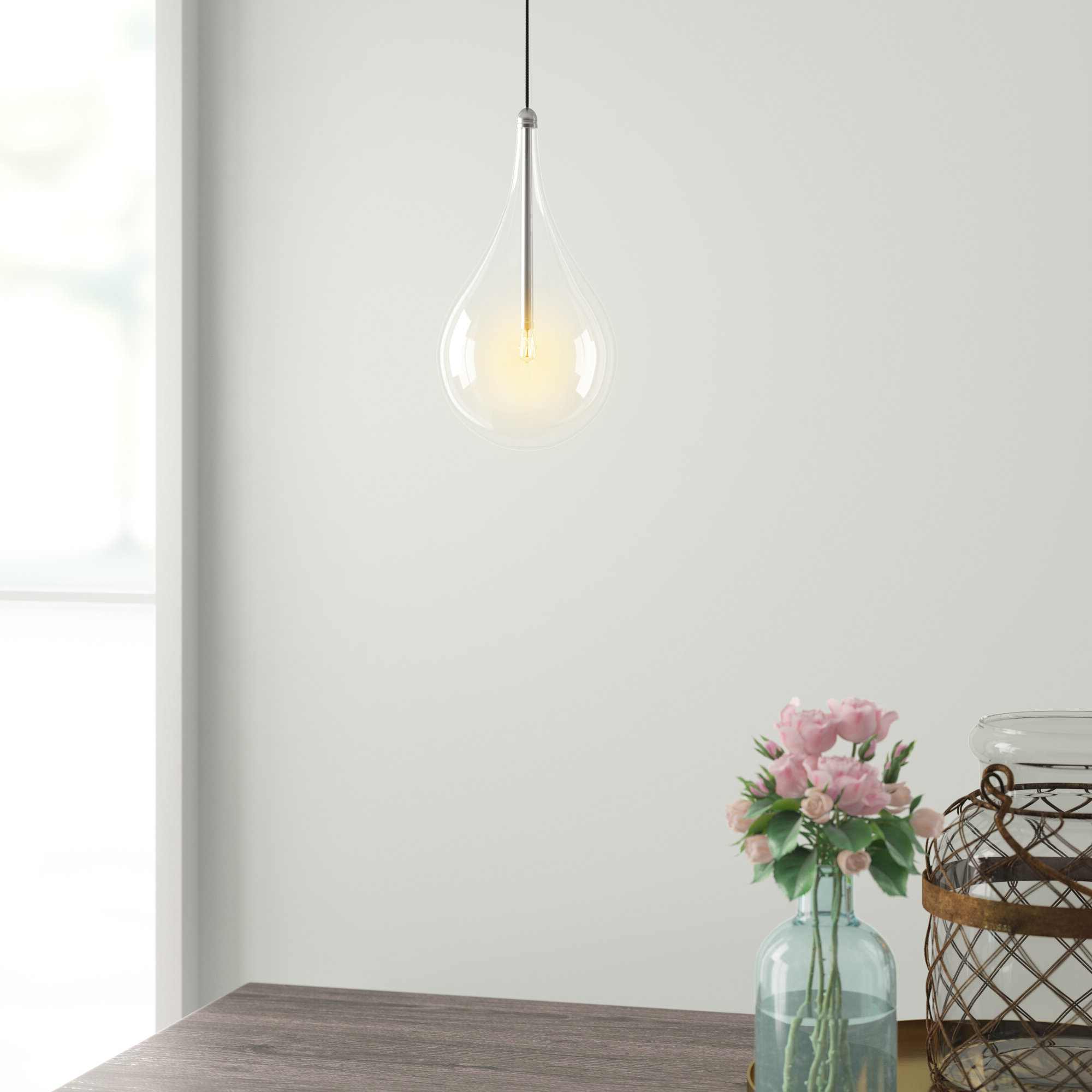 Well Known Neal 1 Light Single Teardrop Pendant With Neal 9 Light Kitchen Island Teardrop Pendants (View 18 of 20)