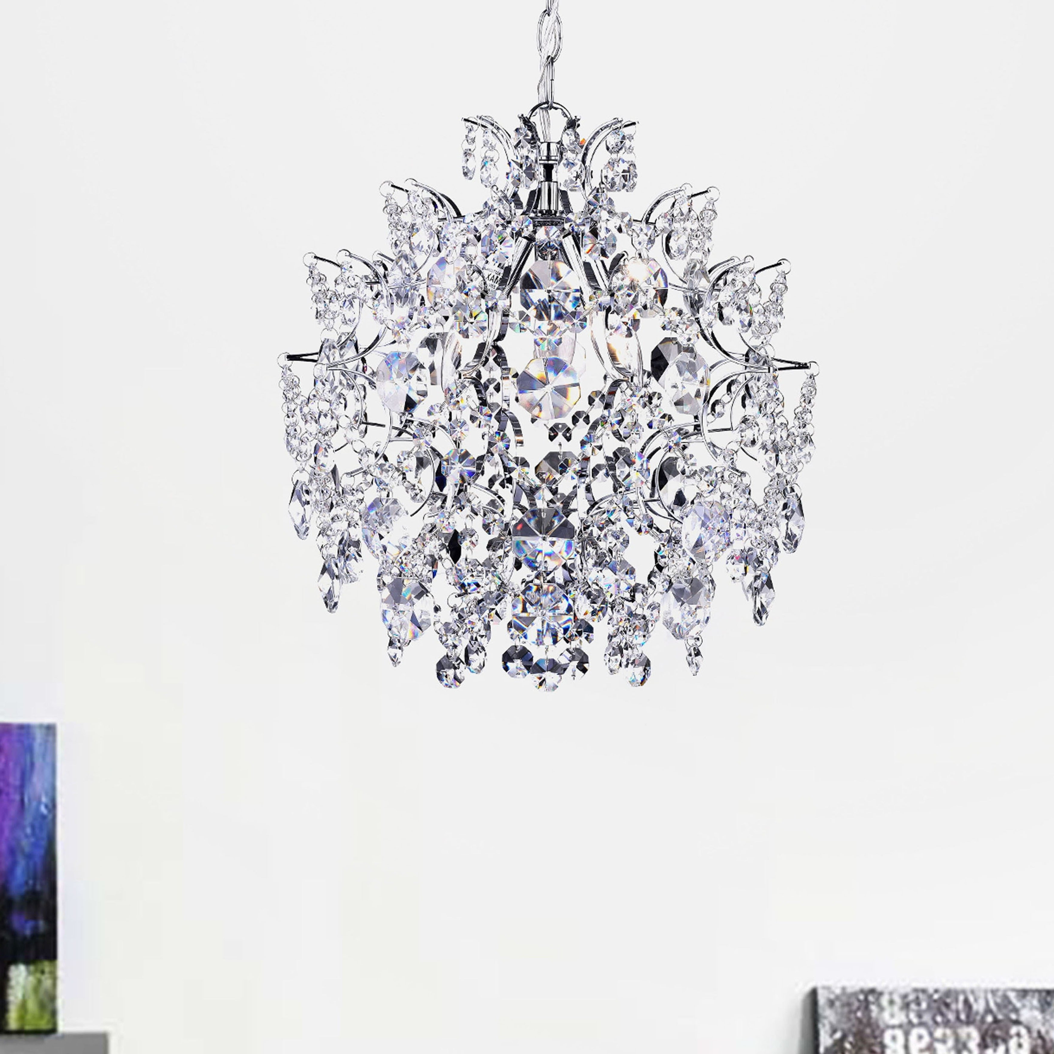 Well Known Nolan 3 Light Crystal Chandelier With Regard To Clea 3 Light Crystal Chandeliers (View 3 of 20)