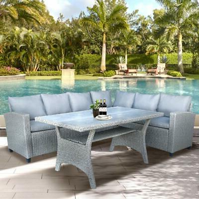 Well Known Nolen Patio Sectionals With Cushions With Latitude Run Nolen Patio Wicker Sectional – Local Pickup (View 19 of 20)