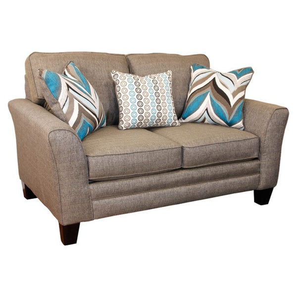 Well Known Owens Loveseats With Cushion Within Somette Owen Grey Loveseat With 3 Accent Pillows (Gallery 9 of 20)