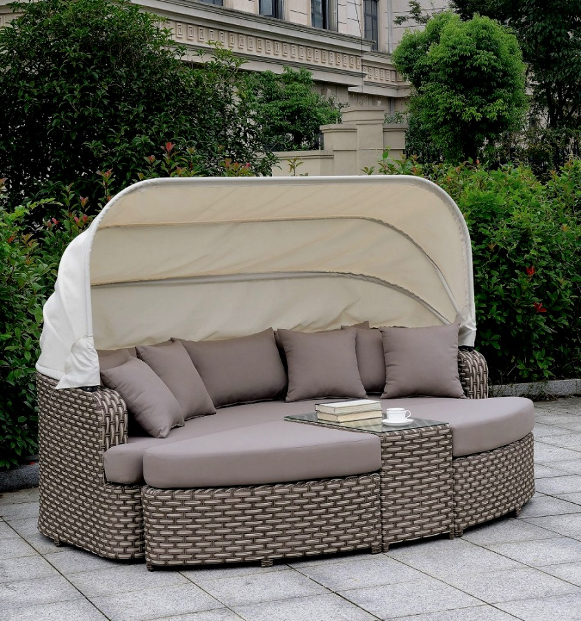 Well Known Patio Day Bed Find Olu Bamboo Large Round Daybed With With Leiston Round Patio Daybeds With Cushions (View 18 of 20)
