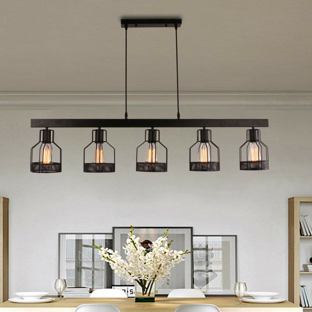 Well Known Price 5 Light Kitchen Island Pendant Inside Hinerman 5 Light Kitchen Island Pendants (View 11 of 20)