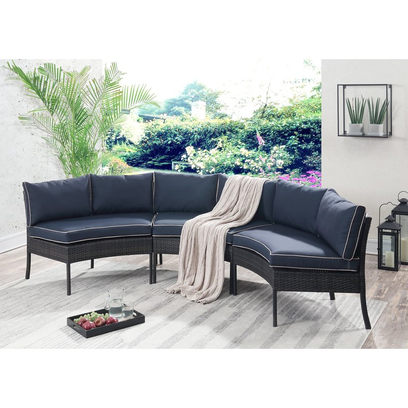 Well Known Purington Circular Patio Sectional With Cushions With Purington Circular Patio Sectionals With Cushions (View 4 of 20)