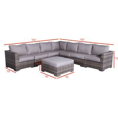 Well Known Purington Circular Patio Sectional With Cushions (View 7 of 20)