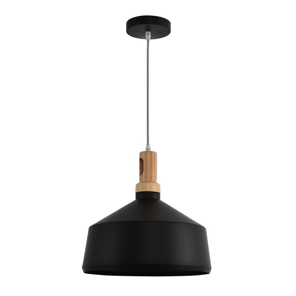 Well Known Ryker 1 Light Single Dome Pendants Throughout Yosemite Home Decor Noir 1 Light Black Pendant In (View 8 of 20)