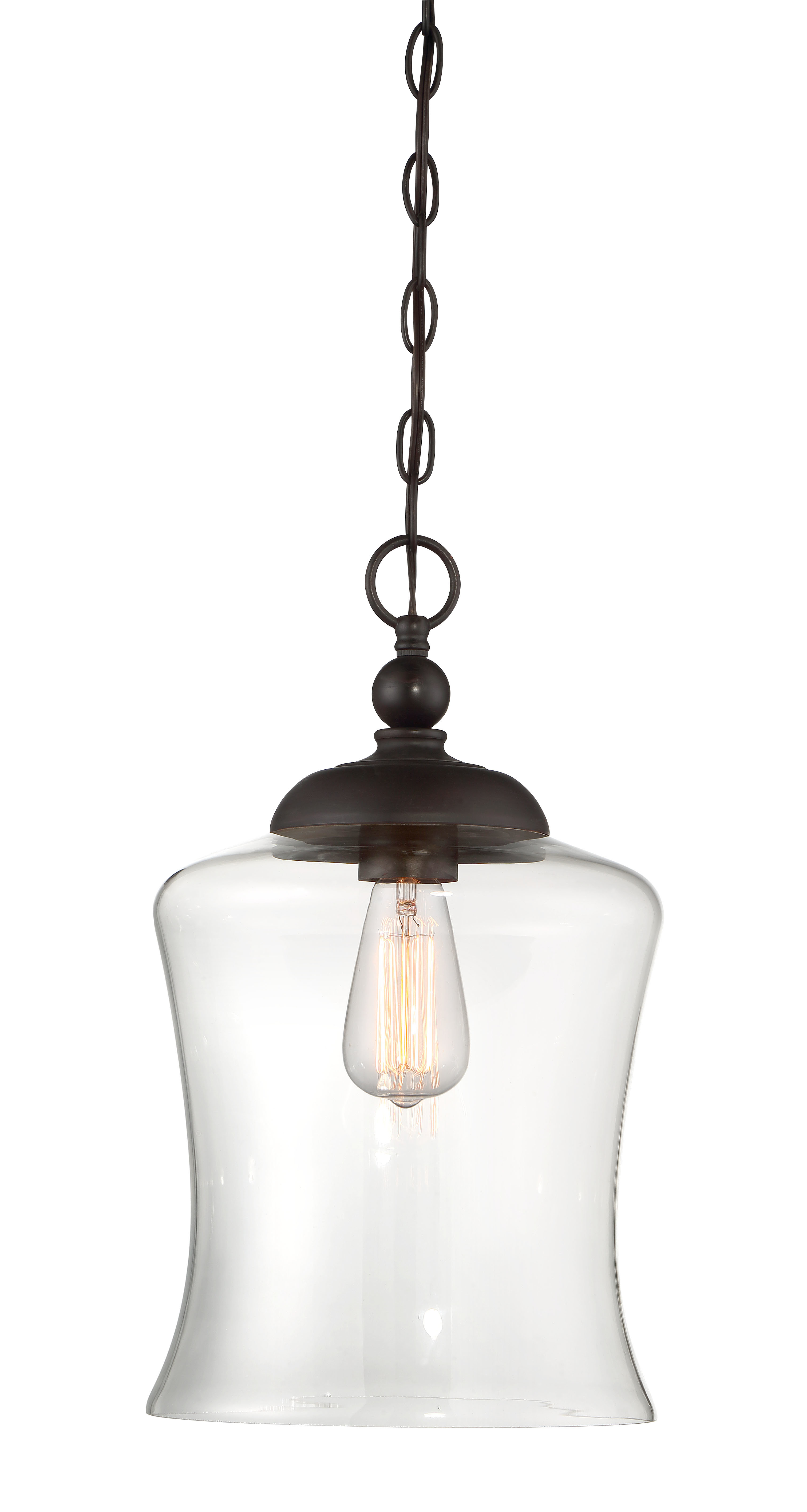 Well Known Sargent 1 Light Single Bell Pendants Intended For Charlton Home Wentzville 1 Light Single Bell Pendant (Gallery 14 of 20)