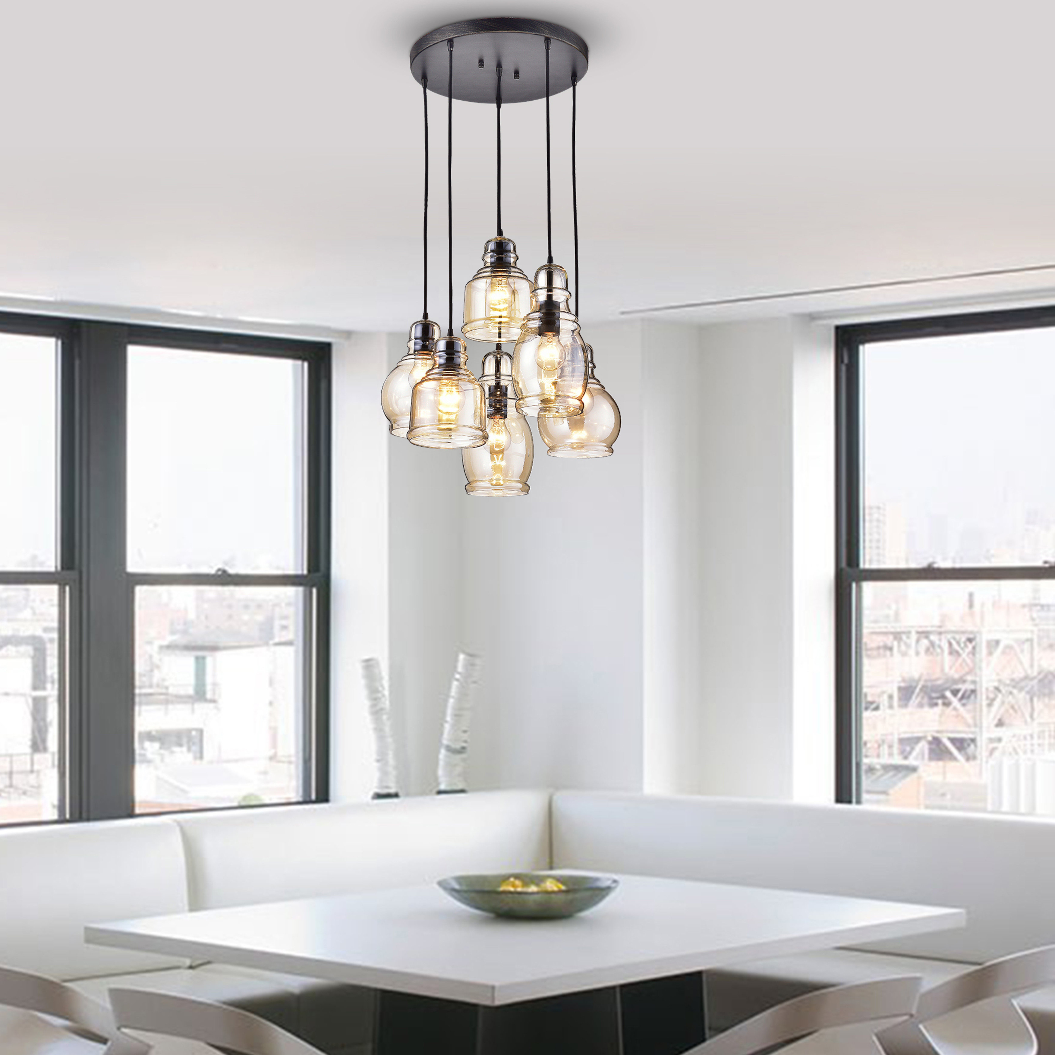 Well Known Schutt 5 Light Cluster Pendants In 4 – 6 Light Cluster Pendant Lighting You'll Love In 2019 (Gallery 5 of 20)